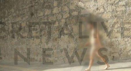 Ολόγυμνος νεαρός άνδρας έκανε τη βόλτα του στο κέντρο του Ηρακλείου