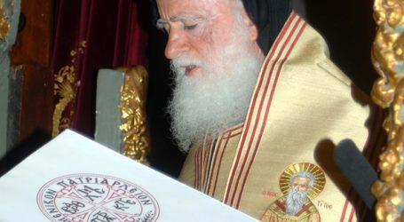 Σταθερή η κατάσταση υγείας του Αρχιεπισκόπου Κρήτης Ειρηναίου