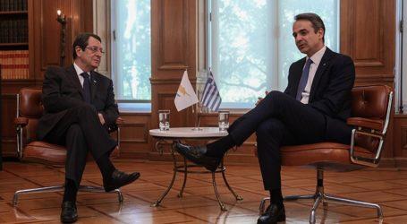 Επικοινωνία Κ. Μητσοτάκη – Ν. Αναστασιάδη για τις νέες προκλήσεις της Τουρκίας