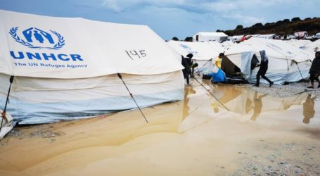 Πλημμύρισε ο προσωρινός καταυλισμός στο Καρά Τεπέ της Μυτιλήνης