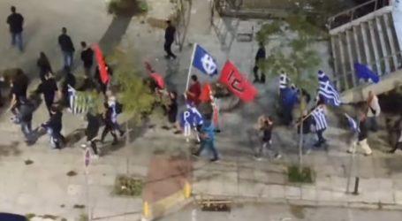 Πορεία μελών της Χρυσής Αυγής στη Θεσσαλονίκη