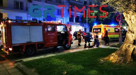 Μοτοσυκλέτα παρέσυρε πεζή στο κέντρο της πόλης