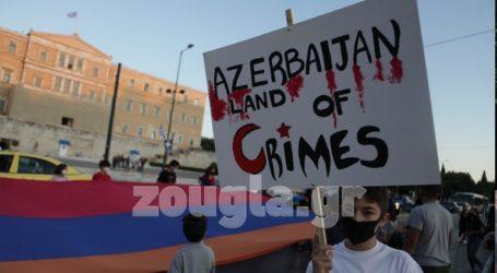 Πορεία διαμαρτυρίας Αρμενίων προς την τουρκική Πρεσβεία