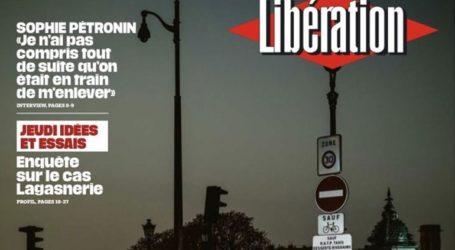 Το πρωτοσέλιδο της «Liberation» μετά την επιβολή απαγόρευσης κυκλοφορίας σε 9 γαλλικές πόλεις