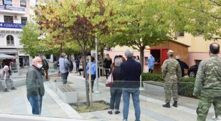 Ουρές στην Κοζάνη για το rapid test κορωνοϊού