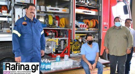 Μάσκες και αντισηπτικά από την Περιφέρεια Αττικής στους Εθελοντές Πυροσβέστες Νέου Βουτζά – Προβαλίνθου