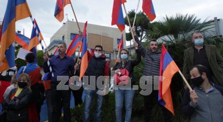 Διαμαρτυρία Αρμενίων στην Πρεσβεία του Ισραήλ