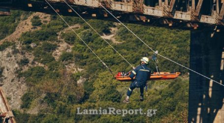 Eντυπωσιακή άσκηση από την 7η ΕΜΑΚ στη γέφυρα του Γοργοποτάμου