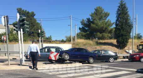 Τροχαίο ατύχημα στην έξοδο της Αττικής Οδού προς Ελευσίνα