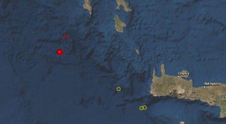 Σεισμός 3,9 Ρίχτερ νοτιοδυτικά των Κυθήρων