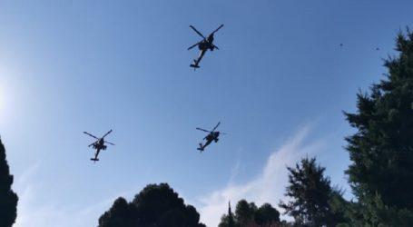 Μαχητικά αεροσκάφη και ελικόπτερα στον ουρανό της Θεσσαλονίκης