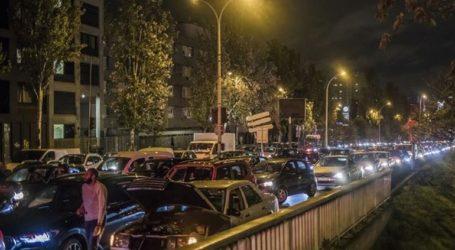 Απίστευτο μποτιλιάρισμα στο Παρίσι λίγες ώρες πριν το lockdown
