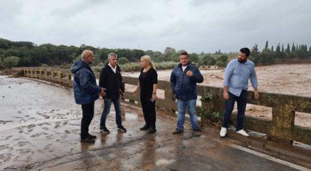 Με διαδικασίες εξπρές τα έργα αποκατάστασης της Περιφέρειας Θεσσαλίας στο κατεστραμμένο  οδικό δίκτυο  του Δήμου Αλμυρού και της Ν. Αγχιάλου