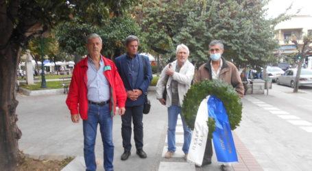 Βόλος: Κατέθεσαν στεφάνια τα μέλη του ΚΚΕ στη μνήμη των πεσόντων