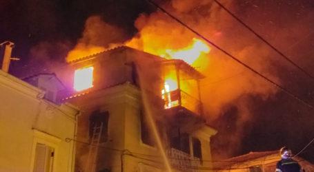 Σκόπελος: Κάηκε ολοσχερώς διώροφη κατοικία