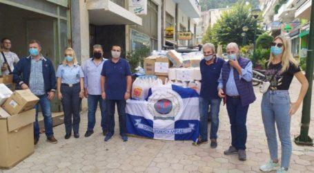 Προσφορά τροφίμων για τους πλημμυροπαθείς των Φαρσάλων, από την Διεθνή Ένωση Αστυνομικών και τον Σύνδεσμο Αποστράτων Αστυνομικών Λάρισας