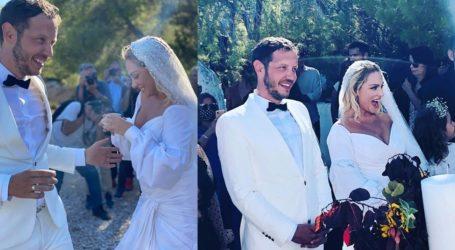 Ελεωνόρα Ζουγανέλη – Σπύρος Δημητρίου: Οι πρώτες φωτογραφίες από τον γάμο τους στις Σπέτσες