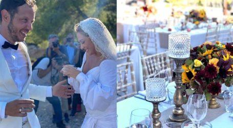 Ελεωνόρα Ζουγανέλη – Σπύρος Δημητρίου: Ο ρομαντικός στολισμός της γαμήλιας δεξίωσης