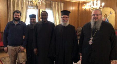 Ο Θεοφ. Επίσκοπος Αρούσας στη Λάρισα