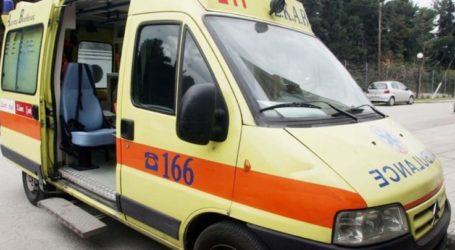 Συναγερμός σε ΕΚAΒ και πυροσβεστική για εκτροπή αυτοκινήτου με εγκλωβισμό έξω από τη ΛάρισαL;a