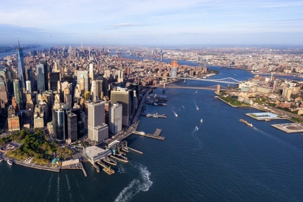 helicopter aerial view of manhattan picture id868507564 1