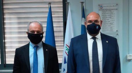 Με τον πρόεδρο του ΕΚΑΒ στην Αθήνα συναντήθηκε ο Γ. Μανώλης στο πλαίσιο της ίδρυσης τομέα ΕΚΑΒ στο Κέντρο Υγείας Γόννων