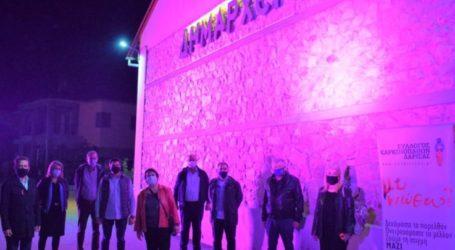 Ροζ φωτίστηκε το δημαρχείο του Δήμου Κιλελέρ στο πλαίσιο του μήνα πρόληψης του καρκίνου του μαστού