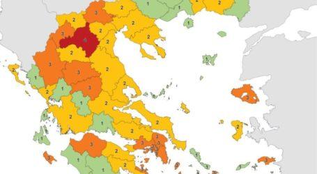 Κορωνοϊός: Αυτός είναι ο νέος χάρτης με τα επιδημιολογικά φορτία στην Ελλάδα – Στο επίπεδο 2 η Μαγνησία
