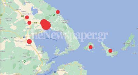 Ο χάρτης του κορωνοϊού στη Μαγνησία – Σε ποιες περιοχές «χτύπησε»