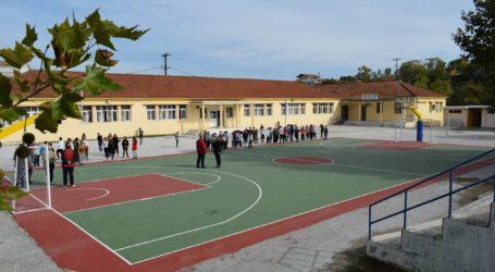 Παραδόθηκε το δεύτερο γήπεδο μπάσκετ στο Βελεστίνο [εικόνες]