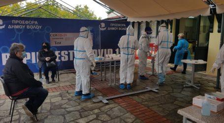 Βόλος: Περισσότερα από 500 rapid tests την πρώτη μέρα