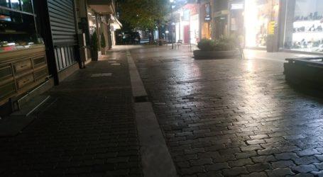Απαγόρευση κυκλοφορίας: Έρημο το κέντρο της Λάρισας το βράδυ της Παρασκευής