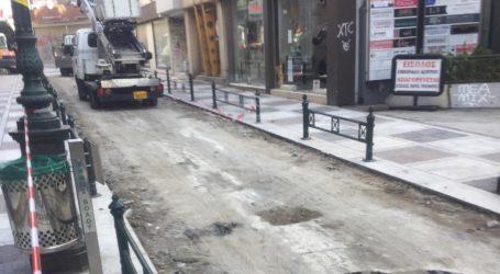Κλειστή η οδός Σπυρίδη λόγω έργων [εικόνες]