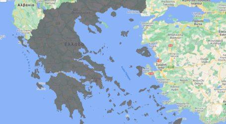 Στα «γκρι» όλη η Ελλάδα στον χάρτη του κορωνοϊού μετά την ανακοίνωση του lockdown