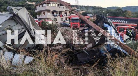 Θύμα τροχαίου δυστυχήματος 22χρονος οδηγός φορτηγού στον Πύργο