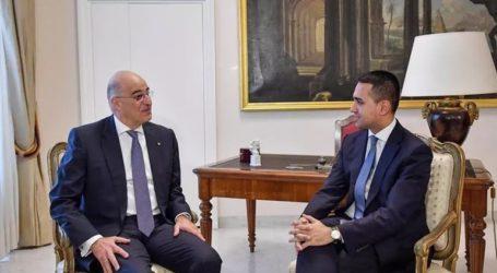 Ανατ. Μεσόγειος και Λιβύη στο επίκεντρο της συνομιλίας Δένδια-Ντι Μάιο