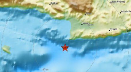 Σεισμός 3,4 ρίχτερ νότια της Κρήτης