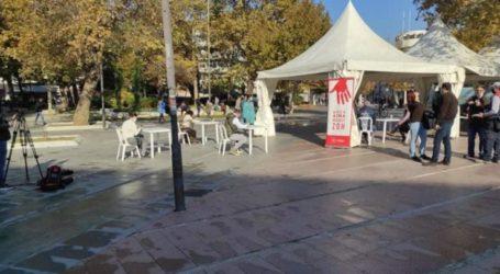 Εργατικό Κέντρο Λάρισας για την αιμοδοσία στην κεντρική πλατεία