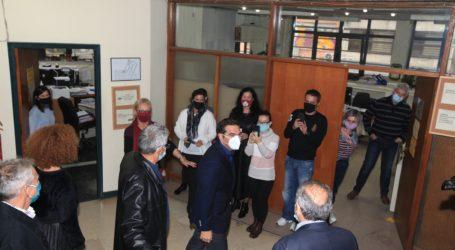 Στο δημαρχείο της Λάρισας ο Αλέξης Τσίπρας – Δείτε φωτογραφίες