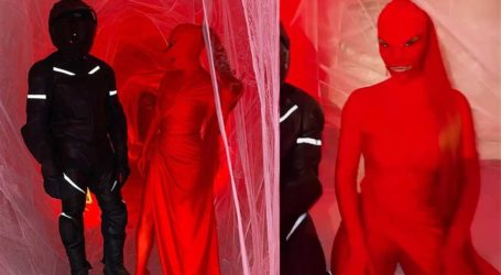 Η Kim Kardashian μεταμορφώθηκε σε ένα παράξενο «κόκκινο πλάσμα» στο πάρτι της αδελφής της!