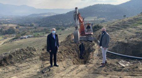 Ξεκίνησαν από την Περιφέρεια Θεσσαλίας οι εργασίες για την κατασκευή νέου δικτύου ύδρευσης στο Δρυμό Ελασσόνας