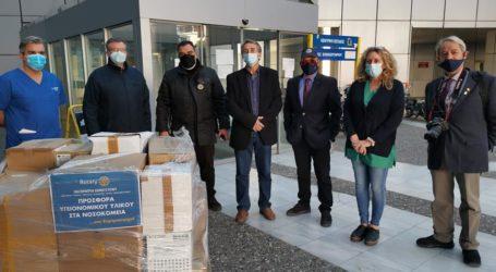 Προσφορά υγειονομικού υλικού στο νοσοκομείο από τους Ροταριανούς του Βόλου