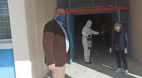 Σε απολύμανση του ΓΕΛ και του Κέντρου Υγείας προχώρησε ο δήμος Τυρνάβου