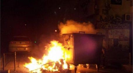 Νύχτα πυρκαγιών στον Βόλο – Έβαλαν φωτιά σε επτά κάδους
