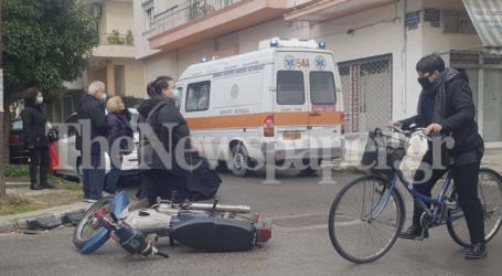 ΤΩΡΑ: Τροχαίο ατύχημα στον Βόλο – Μία τραυματίας [εικόνες]