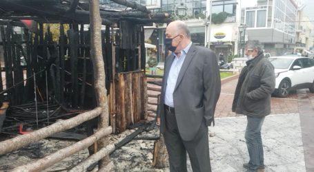 Στην καμένη φάτνη ο Αχιλλέας Μπέος – Δείτε εικόνες και βίντεο