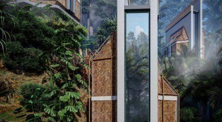 Ένα ασυνήθιστο σύμπλεγμα σπιτιών στη ζούγκλα του Μπαλί