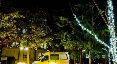 Με χριστουγεννιάτικο διάκοσμο φωτίστηκαν τα νοσοκομεία της Λάρισας (φωτό)