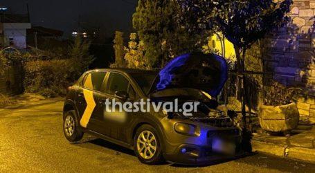 Εμπρηστική επίθεση σε αυτοκίνητο εταιρείας στη Θεσσαλονίκη