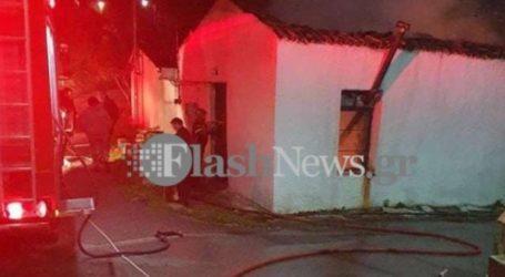 Μεγάλη φωτιά στα Χανιά – Κάηκε ολοσχερώς σπίτι